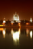 Night View of the Smolny Cathedral Stock Photos