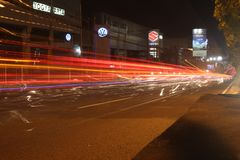 The Night View at Solo Street royalty free stock images