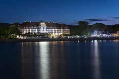 Night view of Sopot city in Poland Royalty Free Stock Image