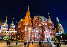 Night view of a square in Moscow. Night view of a square near the famous Red Square in Moscow. Russia royalty free stock photo