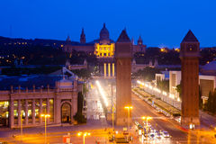 Night view of Square of Spain Stock Photo