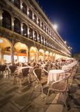 Night view of square St Marko in Venice Royalty Free Stock Photos