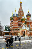 Night view of St. Basil Cathedral Royalty Free Stock Photography