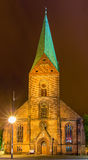 Night view of St. Nikolai Church in Kiel Stock Photos