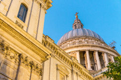 Night view of st Paul Cathedral in London Stock Photo