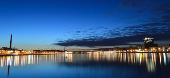 Night view of the St Petersburg Stock Photo