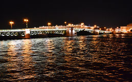 Night view of the St Petersburg Royalty Free Stock Photo