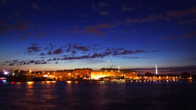 Night view of St Petersburg Royalty Free Stock Image