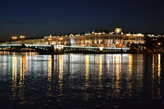 Night view of the St Petersburg Royalty Free Stock Photos