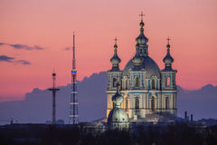 Night view of St-Petersburg Royalty Free Stock Images