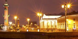 Night view of St Petersburg Royalty Free Stock Photos