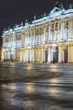 Night view of the State Hermitage in St. Petersburg Royalty Free Stock Image