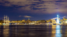 Night view in Stockholm, Sweden Royalty Free Stock Image