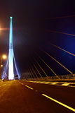 Night view of Stonecutters Bridge Stock Images