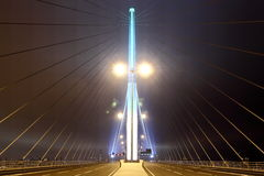 Night view of Stonecutters Bridge Stock Photography