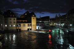 Night View Of Strasbourg, France Royalty Free Stock Photography