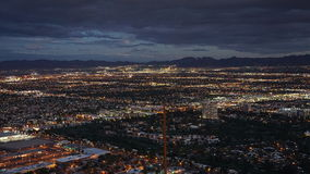 Night view from the Stratosphere Tower in Las Vegas, Nevada Stock Images