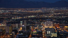 Night view from the Stratosphere Tower in Las Vegas, Nevada. (USA Royalty Free Stock Images