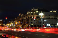 Night view of the street Royalty Free Stock Images