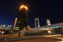 Night view of the street Orynbor Astana Kazakhstan Stock Photo