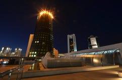 Night view of the street Orynbor Astana Kazakhstan Stock Photo