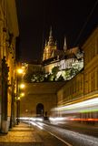 Night view on the street of Prague Stock Photography