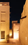 Night view of the streets of the old Arab city Dubai Royalty Free Stock Photo