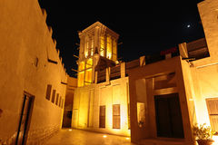 Night view of the streets of the old Arab city Dubai Royalty Free Stock Image