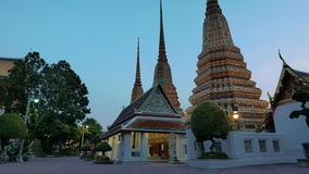 Night view style of Wat Phra Chetupon Vimolmangklararm (Wat Pho) temple Royalty Free Stock Photo