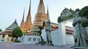 Night view style of Wat Phra Chetupon Vimolmangklararm (Wat Pho) temple Stock Photography
