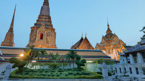Night view style of Wat Phra Chetupon Vimolmangklararm (Wat Pho) temple Royalty Free Stock Images