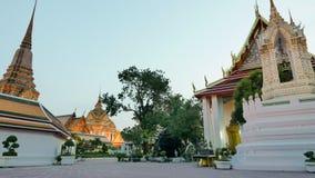 Night view style of Wat Phra Chetupon Vimolmangklararm (Wat Pho) temple Stock Image