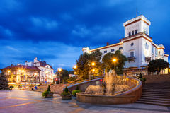 Night view of the Sulkowski Castle in Bielsko-Bial Royalty Free Stock Photo