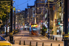 Night view of Sultanahmet district in Istanbul Royalty Free Stock Photo