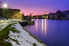 Night view of Suomenlinna fortress Royalty Free Stock Images