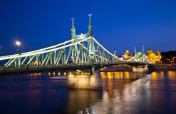 Night view of Szabadsag hid, Budapest Stock Images