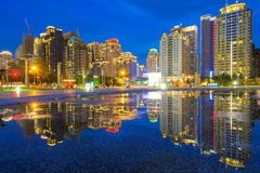 Night view  of Taichung city Royalty Free Stock Photos