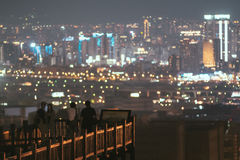 Night view of Taichung city Royalty Free Stock Images