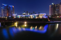 Night view of Taichung Royalty Free Stock Photography