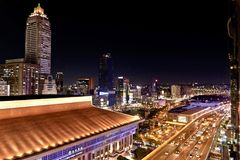 Night View Of Taipei Main Station Royalty Free Stock Images