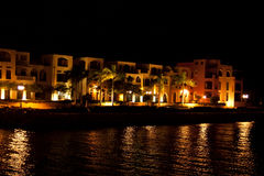Night view in the Tala Bay Royalty Free Stock Image