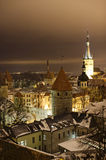 Night view of Tallinn Royalty Free Stock Photo