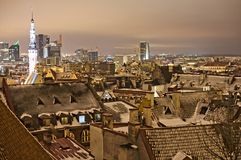 Night view of Tallinn. Traditional view of Tallinn's rooftops Royalty Free Stock Photo