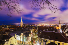 Night view of Tallinn, Estonia Stock Photography