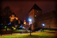 Night view of  Tallinn,  Estonia Royalty Free Stock Photo