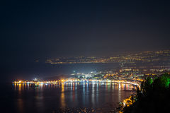 Night view from Taormina Royalty Free Stock Photo
