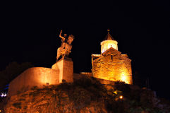 Night view of Tbilisi Old town Royalty Free Stock Photography