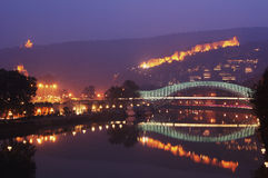 Night view of Tbilisi Old town Royalty Free Stock Image
