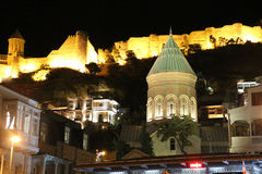 Night view of the Tbilisi Old Town Royalty Free Stock Images