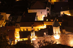 Night view of the Tbilisi Old Town Royalty Free Stock Image
